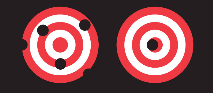 When it comes to developing an effective brand strategy, there's more than one way to hit a target. Shifting your approach can work as well as shifting your aim.