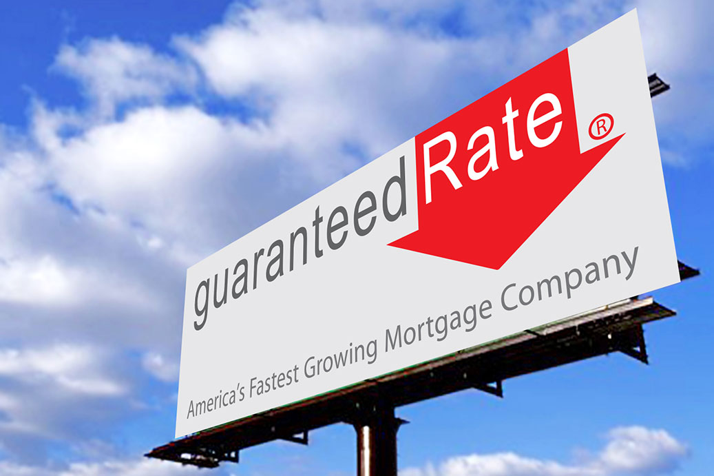 Grady Campbell developed the logo for a start-up mortgage company in 2003. Guaranteed Rate is now the seventh largest mortgage lender in the nation.